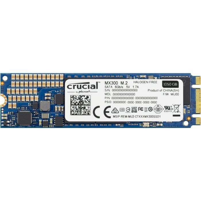 DISQUE DUR SSD Crucial SSD MX300 1To - M.2 Type 2280SS  CT1050MX3