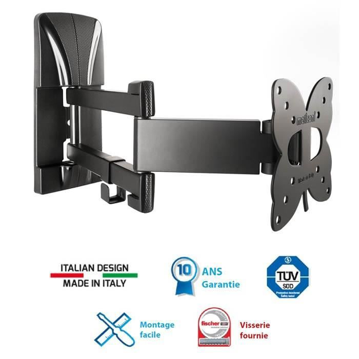 Meliconi 100 sdr support tv mural orientable slim 14 25 for Meliconi support tv