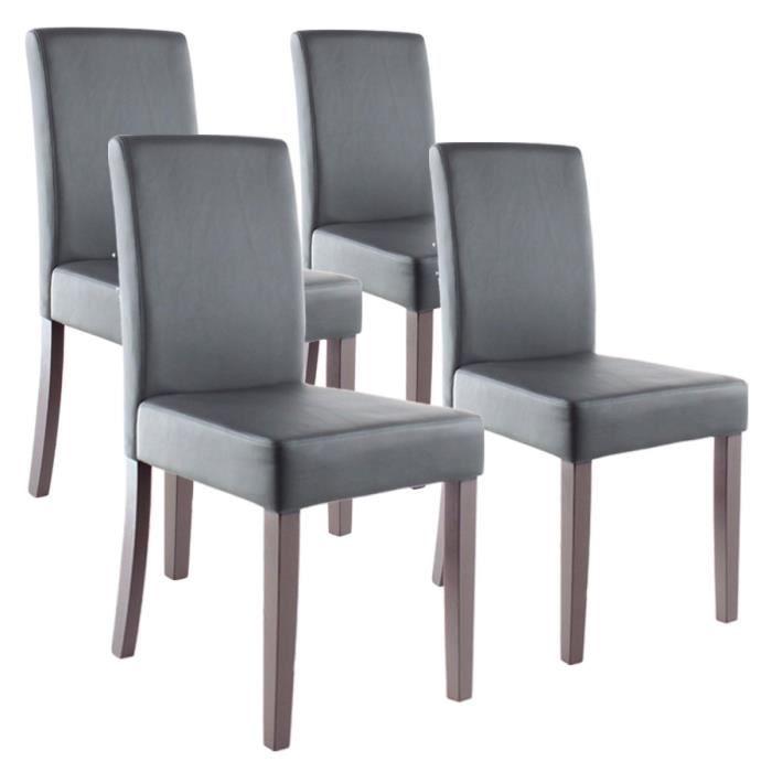 Chaises de manger CLARA Lot salle à Achat de 4 grises 2YDH9WEI