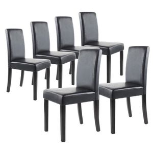 Chaises achat vente chaises pas cher cdiscount for Lot 6 chaises salle a manger