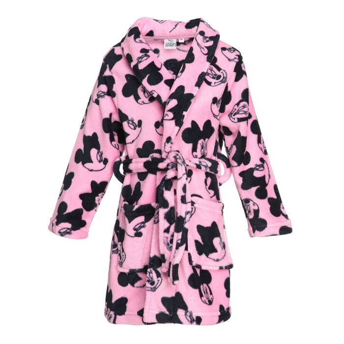 minnie robe de chambre enfant fille rose achat vente pyjama chemise de nuit minnie robe de. Black Bedroom Furniture Sets. Home Design Ideas
