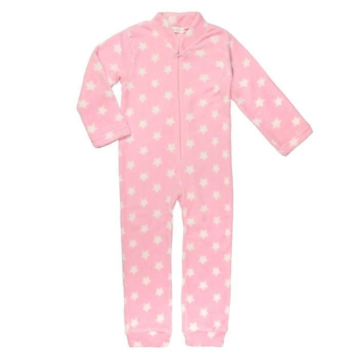 epop girls combinaison pyjama enfant fille rose et blanc. Black Bedroom Furniture Sets. Home Design Ideas