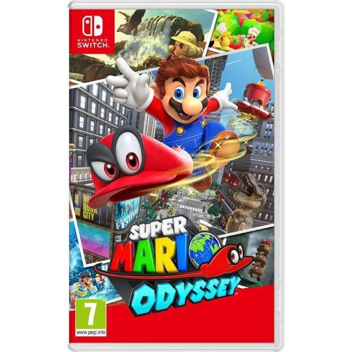 super mario odyssey jeu switch achat vente jeu. Black Bedroom Furniture Sets. Home Design Ideas