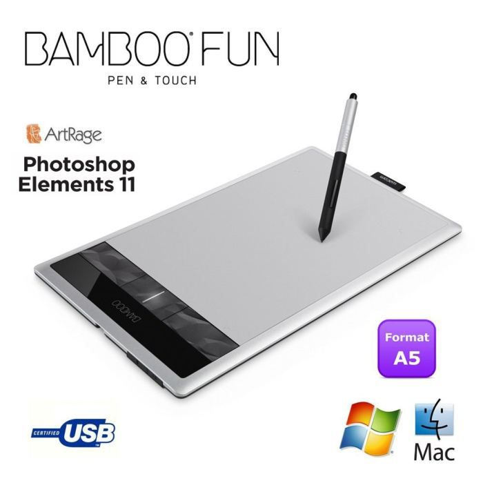 informatique clavier souris webcam wacom tablette graphique bamboo fun pen touch m re f  cthsfr