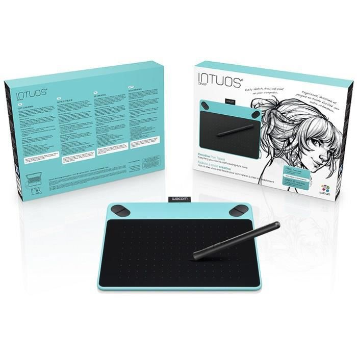wacom tablette graphique intuos draw blue pen only small. Black Bedroom Furniture Sets. Home Design Ideas