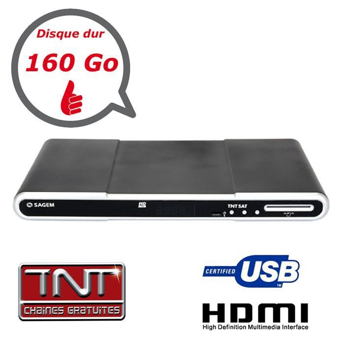 recepteur tnt sat hd double tuner dd 160go r cepteur d codeur avis et prix pas cher. Black Bedroom Furniture Sets. Home Design Ideas