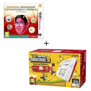 CONSOLE 2DS Console 2DS Rouge + New Super Mario Bros 2 + Jeu l