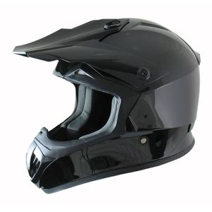 CASQUE MOTO SCOOTER AMX Casque Cross Awax Flash Noir Verni