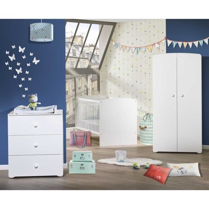 chambre bebe complete blanche achat vente chambre bebe. Black Bedroom Furniture Sets. Home Design Ideas