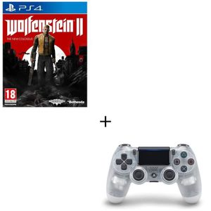 JEU PS4 Pack Wolfenstein Colossus PS4 et une Manette DS4 C