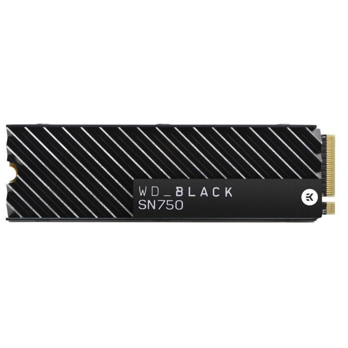 DISQUE DUR SSD WD - SSD Interne - Black SN750 M.2 - 2To (WDS200T3