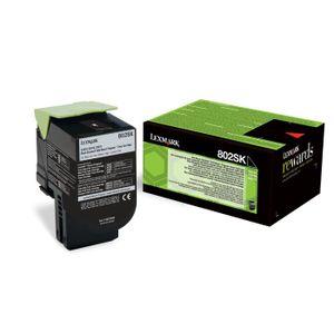TONER Lexmark Toner 802SK - 80C2SK0 - Noir - 2500 pages