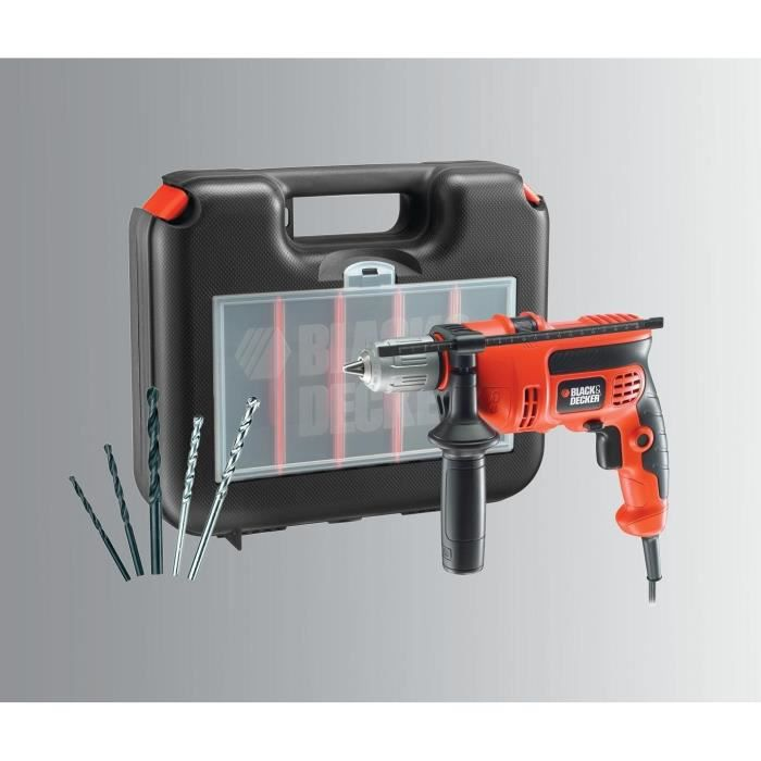 Perceuse à percussion Black & Decker CD714CREW2 + accessoires à 24,99€
