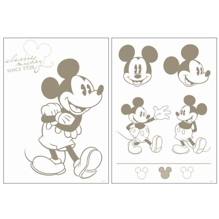 disney stickers muraux mickey classic achat vente. Black Bedroom Furniture Sets. Home Design Ideas