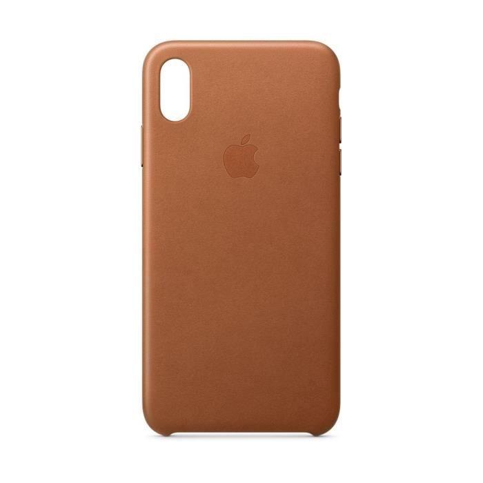 coque en cuir pour iphone xs max havane