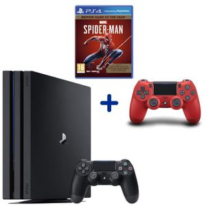 CONSOLE PS4 PS4 Pro 1 To Noire + Marvel's Spider-Man GOTY + Ma