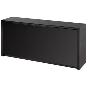 buffet noir laque achat vente buffet noir laque pas cher cdiscount. Black Bedroom Furniture Sets. Home Design Ideas
