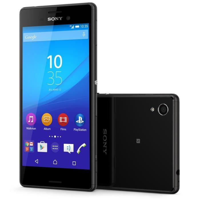 sony xperia m4 aqua double sim noir achat smartphone pas. Black Bedroom Furniture Sets. Home Design Ideas