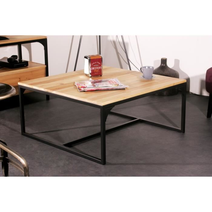 Table basse industriel pas cher for Table a manger industriel pas cher