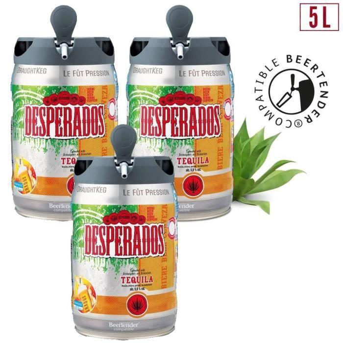 BIÈRE 2 achetés + 1 offert - Desperados Tequila - Fût 5L