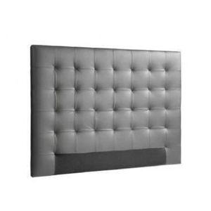 BOUT DE LIT SOGNO Tête de lit capitonnée - Simili gris - L 140