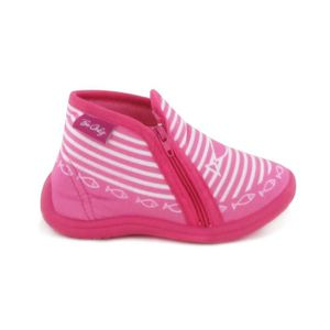 CHAUSSON - PANTOUFLE BEONLY Chaussons Timousson ZIP - Enfant Fille - Ro