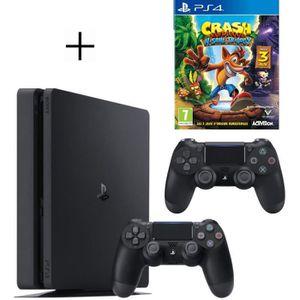 CONSOLE PS4 Pack PS4 500 Go Noire + 2ème manette DualShock 4 N