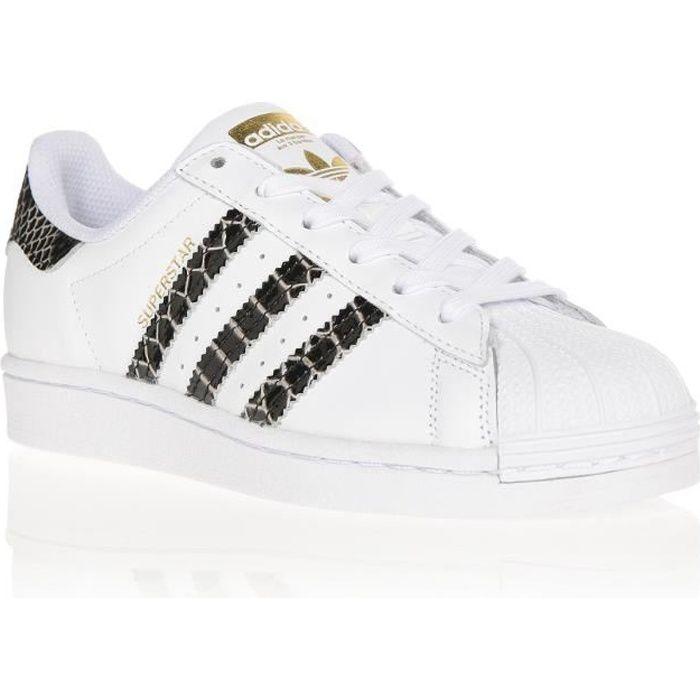 ADIDAS Baskets Superstar Blanc et Noir Femme