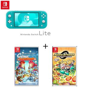 CONSOLE NINTENDO SWITCH Console Switch Lite Turquoise + Jeu Switch Scribbl