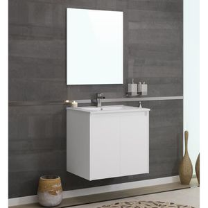 DELTA Ensemble Salle De Bain Simple Vasque L 60 Cm