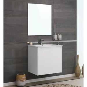 SALLE DE BAIN COMPLETE DELTA Ensemble salle de bain simple vasque L 60 cm