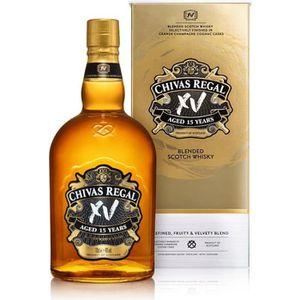 WHISKY BOURBON SCOTCH Whisky Chivas Regal XV avec Etui OR 40% 70cl