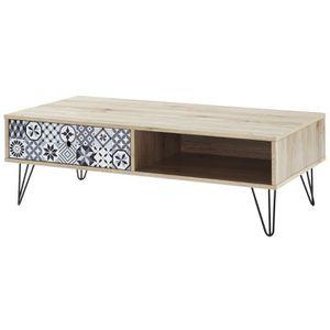 TABLE BASSE COLETTE Table basse vintage décor chêne - L 110 x