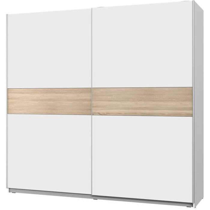 armoire blanche porte coulissante