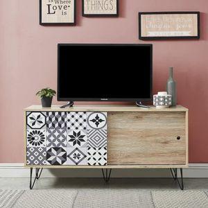 MEUBLE TV COLETTE Meuble TV vintage décor chêne - L 120 cm