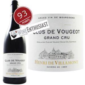 VIN ROUGE Henri de Villamont Clos de Vougeot 2010 Grand Cru