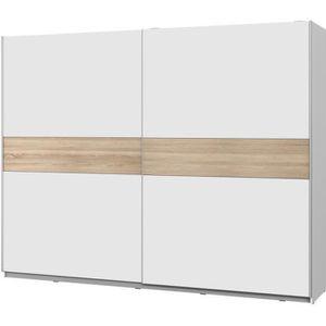 ARMOIRE DE CHAMBRE ATOS Armoire 2 portes coulissantes - Blanc mat et