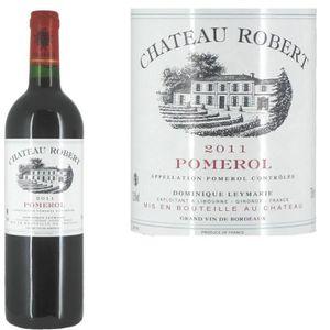 VIN ROUGE Château Robert Pomerol 2011 - Vin rouge x1