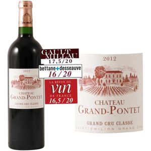 VIN ROUGE Château Grand Pontet 2012 Saint-Emilion Grand Cru
