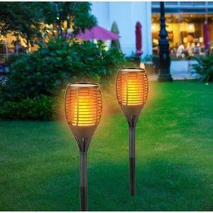 LAMPE DE JARDIN  GRUNDIG Torche solaire - 72 LED - 1200 mAh - Effet