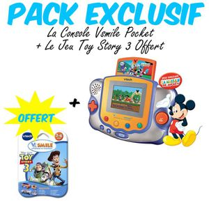 CONSOLE ÉDUCATIVE Pack Exclusif V.Smile Pocket Mickey + 1 Jeu