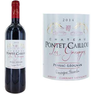 VIN ROUGE Château Pontet Caillou Les Granges 2014 Pessac - V