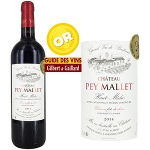 VIN ROUGE Château Pey Mallet AOC Haut Médoc 2014 - Vin rouge