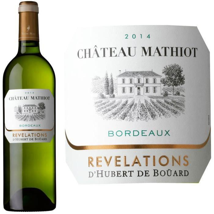 VIN BLANC Château Mathiot 2014 Bordeaux - Vin blanc de Borde