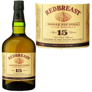 WHISKY BOURBON SCOTCH Redbreast 15 ans Pot Still  70cl 46%