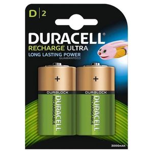 PILES DURACELL Piles rechargeables Ultra type D - 3000 m
