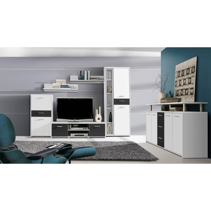 finlandek meuble tv mural pablo enfilade 257 cm achat vente salon complet finlandek meuble. Black Bedroom Furniture Sets. Home Design Ideas