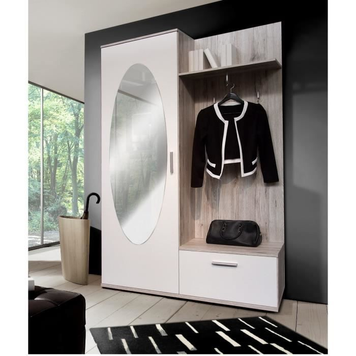 meuble entree vestiaire fly. Black Bedroom Furniture Sets. Home Design Ideas