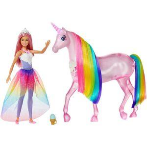 POUPÉE BARBIE Barbie et sa Licorne Lumières Magiques