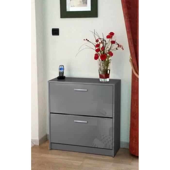 meuble chaussure gris clair. Black Bedroom Furniture Sets. Home Design Ideas